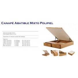ASPOL '' Canapé Abatible Mixto Polipiel ''