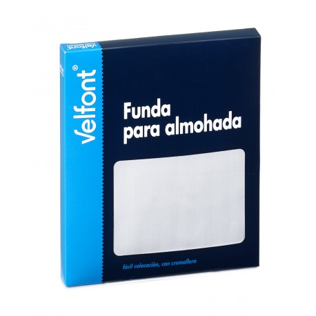 VELFONT '' FUNDA DE ALMOHADA RASO LABRADO ''