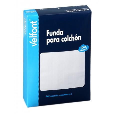 VELFONT '' FUNDA DE COLCHÓN MODELO RASO LABRADO ''